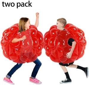 36inch, 1pcs zjq Blue+Clean Inflatable Body Bubble Ball Sumo Bumper Bopper Toys SUNSHINEMALL 1 PC Bumper Ball Heavy Duty Durable PVC Vinyl Kids Adults Physical Outdoor Active Play