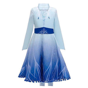 New Frozen 2 Elsa Anna Girls Princess Dress Halloween Cosplay Costume For Kids Birthday Evening Party Dresses 3 pcs one set