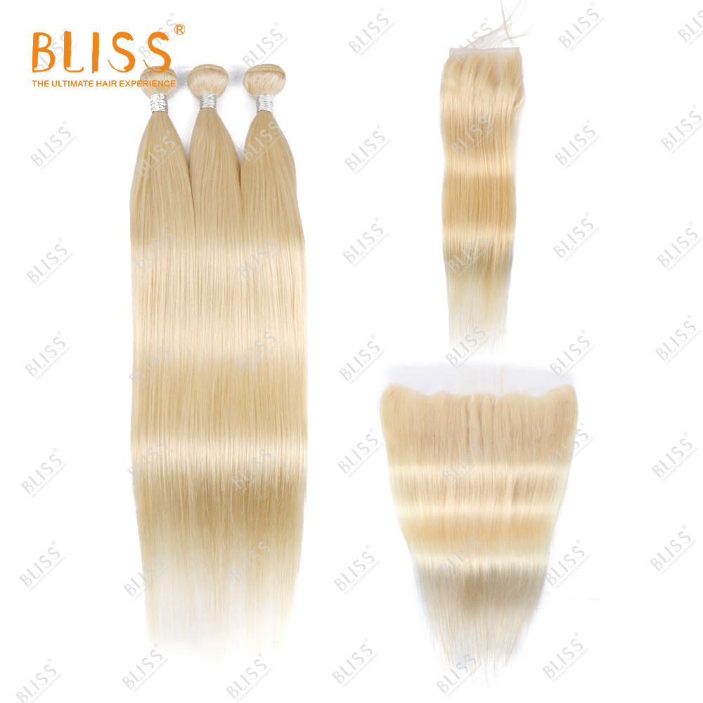 Closure [ Hair Bundles ] Bundles With Hair Closure Bliss 613 Virgin Hair Bundles With Closure And Frontal