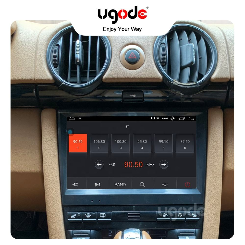 Ugode Android 10.0 Car GPS Navigation Stereo Player 8 inch Screen Audio for Porsche 711 918 Boxster