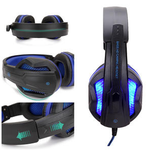 Free Sample Wired Stereo Gaming Headset RUNMUS Gamer Headphones for PS4 Xbox One PC
