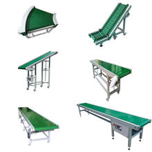 Custom PVC green flat belt conveyor / conveyer system for Industrial assembly production line