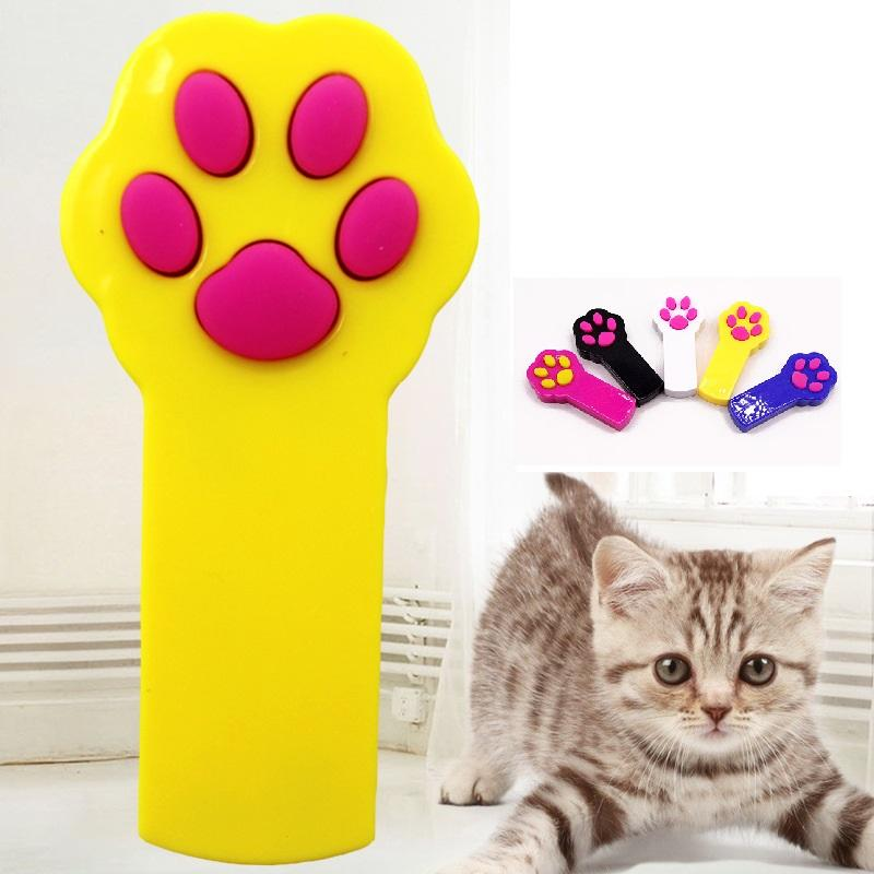 Interactive LED Light Pointer Paw Style Cat Toys Red Pot Exercise Chaser Toy Pet Scratching Training Tool