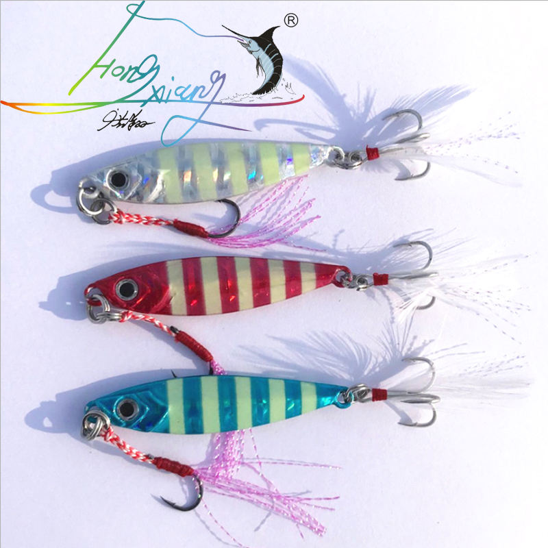 15-60g Luminous Lead Jig Wobblers Deep Sea Fishing Metal Jig 5.2-8.2cm Slow Jigging Hard Bait Spoon Metal Lures Fishing