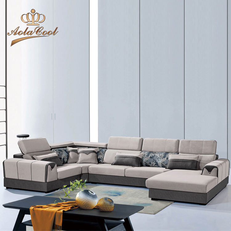 Reclining Sectional Chaise U Shape Fabric Sofa Seater Living Room Furniture Modern Sofa Set Design Lounge