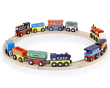 New style hot sale wooden  thomas train magnetic train car toy for kids