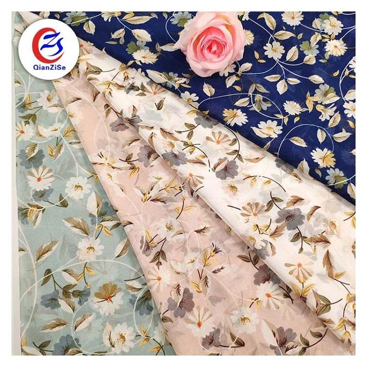 New design luxury silk african floral printed low price heavy chiffon fabric