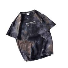 95%polyester10%cotton hip hop clothing gradient color tie dye Plus Size T-Shirts for custom clothing manufacturers