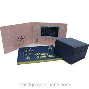 Video Brochure Card & Box Gift Hd Touch Screen 7Inch Digitale Lcd Video Brochure Voor Reclame Uitnodiging