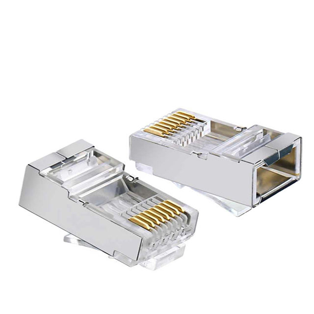 Gold Platte 3 Prong <span class=keywords><strong>FTP</strong></span> <span class=keywords><strong>CAT6</strong></span> 23AWG Geschirmt Keyston Jack <span class=keywords><strong>CAT6</strong></span> stecker Rj45 modulare stecker