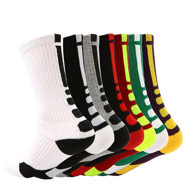Wholesale Custom Logo Elite Crew Basketball Team Socks Professional Design Cushioned Cotton Sports Socks