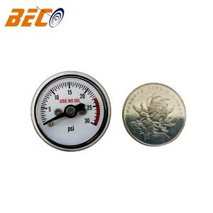 Beco 1 Inci 25 Mm 30 PSI Plastik Mini Pressure Gauge