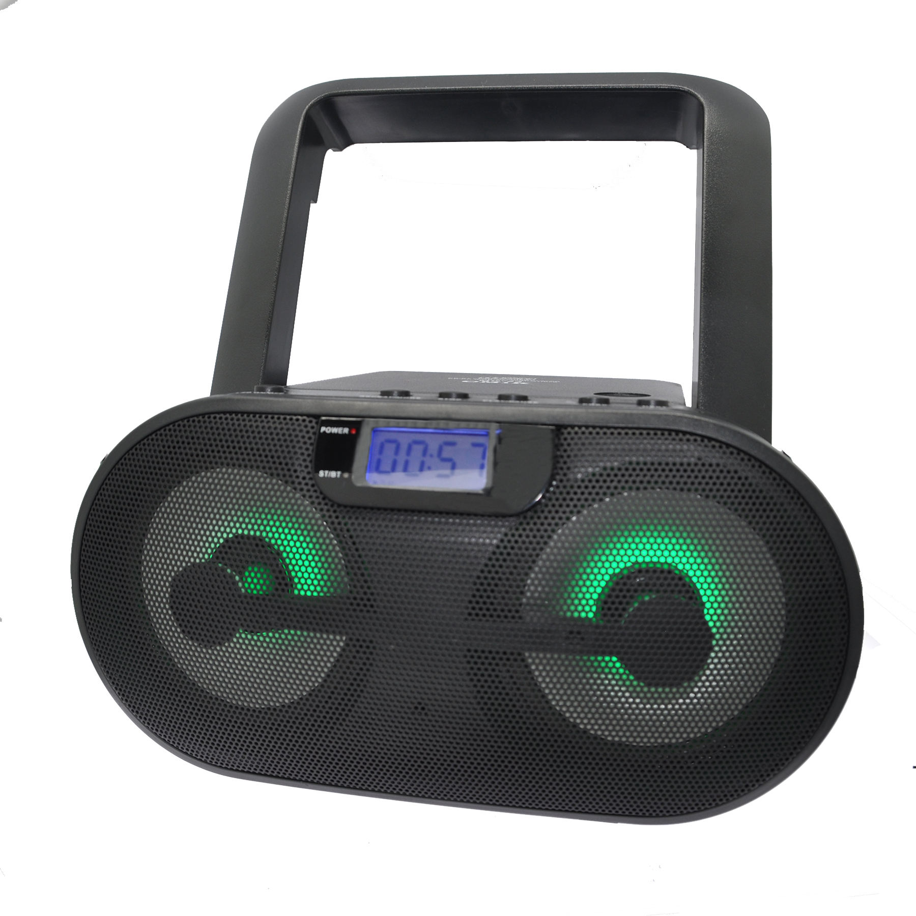 CMiK mk-24 DJ DVD WMA Portable crenk CD CD-R CD-RW boombox with color led light bluetooths usb tf card AM FM radio MP3 player