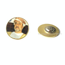 Free samples Oman 2020 50th National Day 30mm Gold Plate 3D Digital Emblem With New King Logo