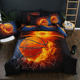 Stock cheap 100% polyester 3d quilt cover modern bedding sets bed linen usa