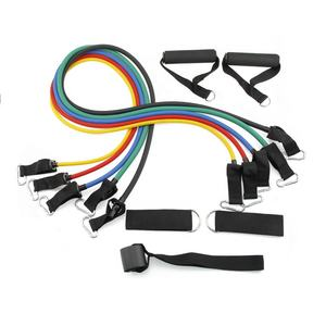 Exercise Resistance Bands Tube Set Yoga Elastic Bands for Home Gym Fitness