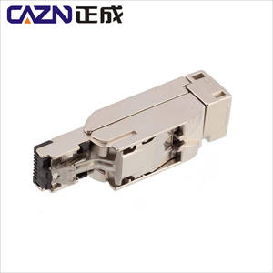 Pierce installation RJ45 industrial Zinc alloy nickel plating CAT5E standard 4pin metal RJ45 connector