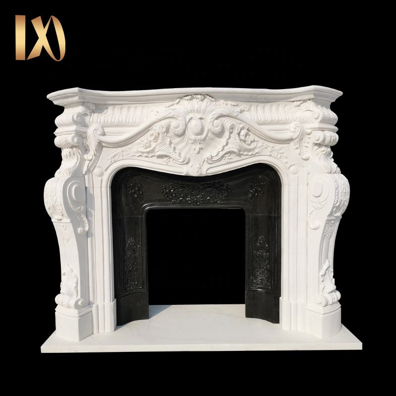 Factory outlet Indoor decoration High Quality Natural Marble Fireplace