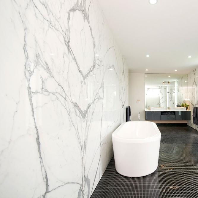 Custom Marble Carrara Marble Tile White Polished Tile, White Marble Tiles Floor Wall Stone ~
