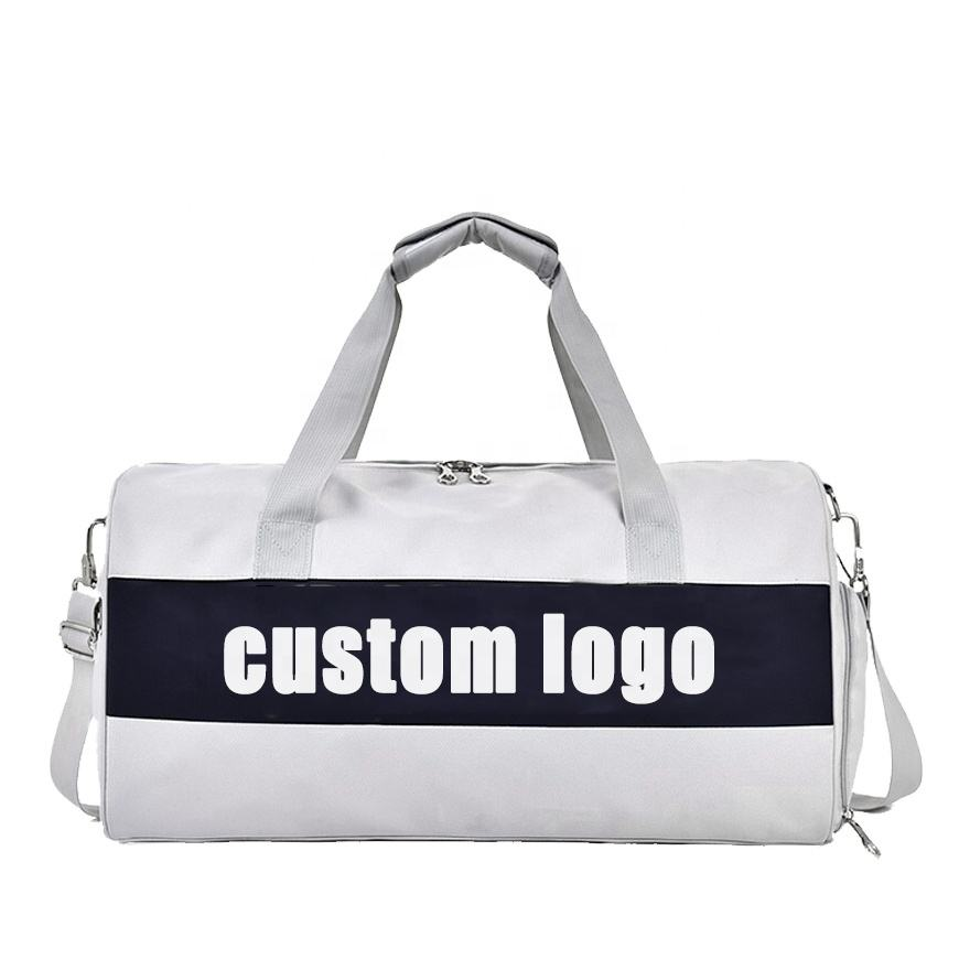 Men / Women Private Label Custom LOGO Waterproof Sport Duffle Gym Bag With Shoe Compartment