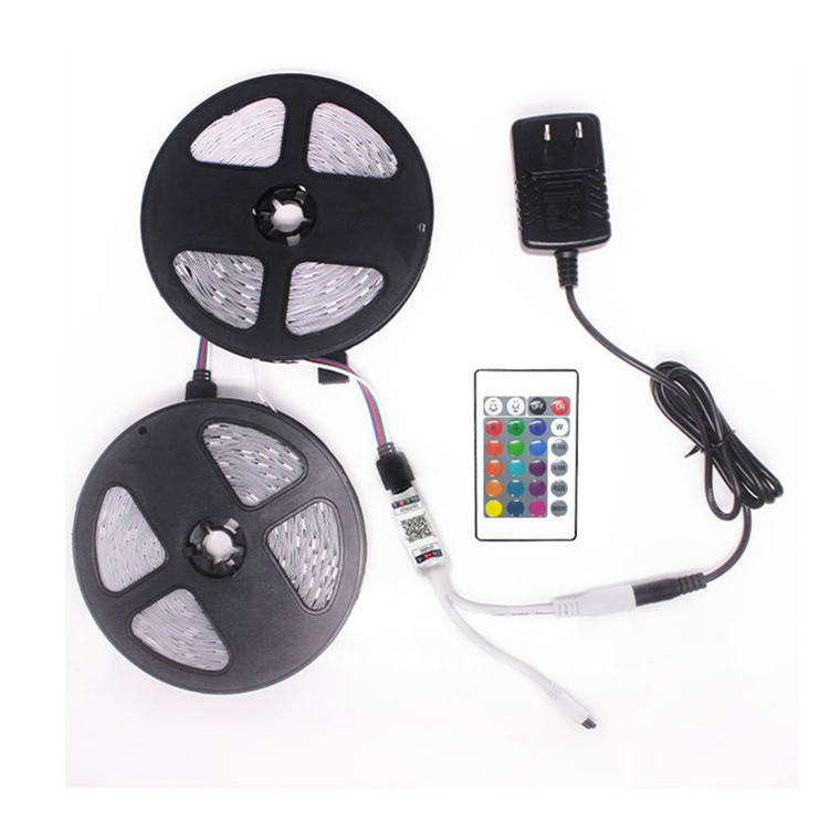 LED Light Strip Kit 5050 RGB 32.8ft 600LED Non-Waterproof BlueteethIR Controller 44-key Remote led strip lights with remote