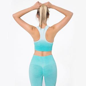 Opknoping Verven Naadloze Knit Topline Yoga Set Hollow-Out Oefening Fitness Set Running Lange Mouw Yoga Jurk Vrouwen