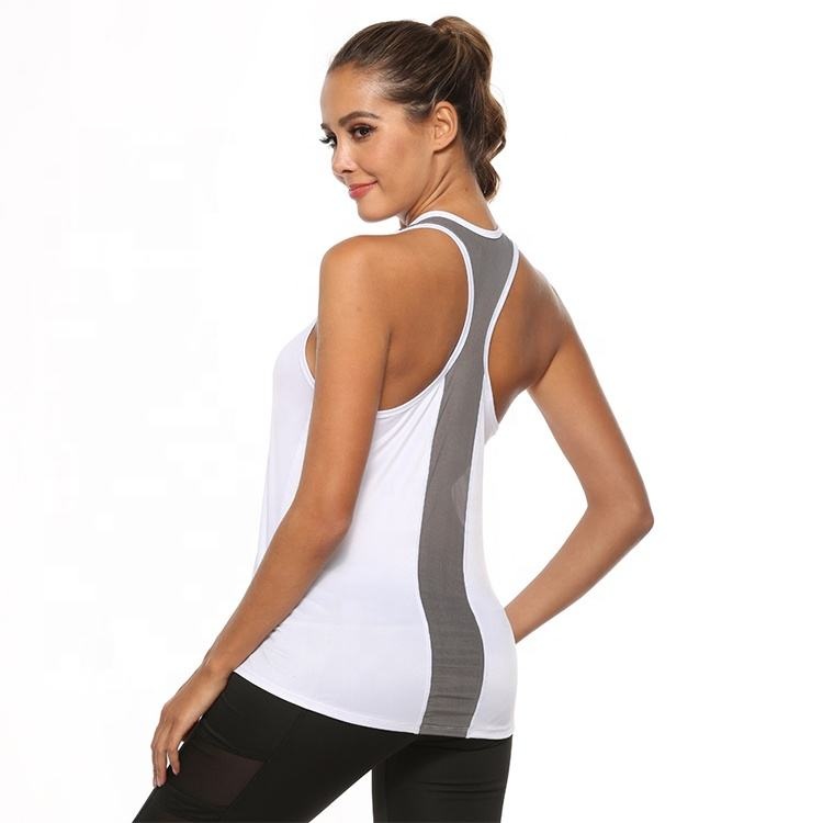 2020 New Fashion Professional Backless Yoga Top Weste Sport Hemd Frauen Ärmelloses Racerback Gym Fitness Tank Top