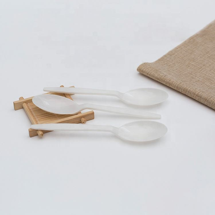 Wholesale Compostable Disposable Baby Cutlery Corn Starch Spoon