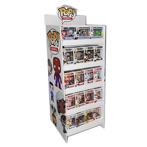 Funko Pop Up Kartonnen Producten Display Stand, Golfkarton Vloer Display Rack, Papier Display Stand Plank Unit