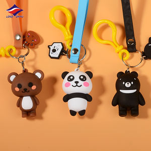 Longzhiyu 14 Years China Manufacturer Custom 3D cute PVC Keychains rubber keychain maker