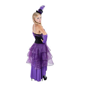 Purple dancing girl cosplay women's costume