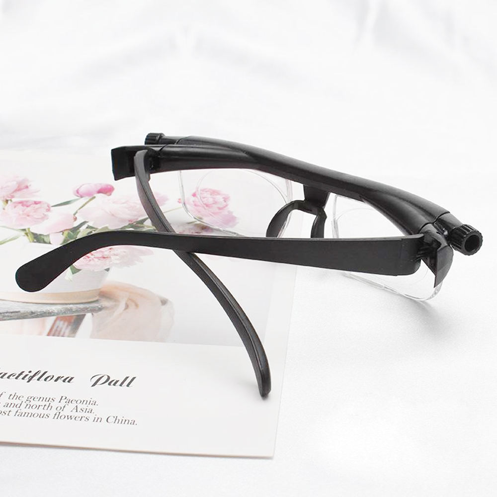 99yi Adjustable Vision Focus Reading Glasses Myopia Eye Glasses -6D to +3D Variable Lens Binocular Magnifying Porta Oculos