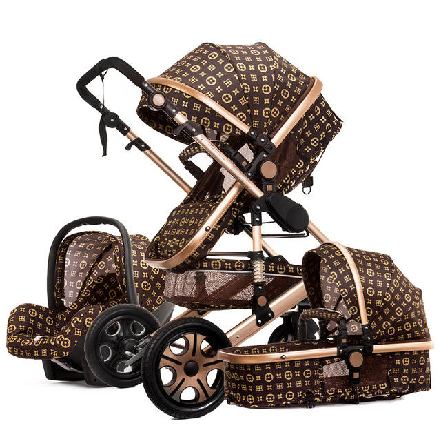 Fast Shipping Door To Door Luxury Baby Stroller 3 in 1 Folding bi-directional high landscape stroller baby pram china