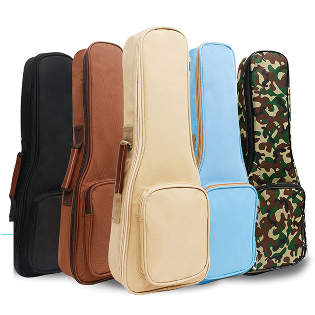 10MM Leather Handles Thick Durable Colorful Ukulele Case Bag with Storage 21/23/27inch