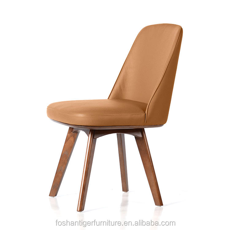 Modern style dining room furniture genuine leather dining chair