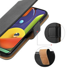Premium Leather Wallet Case Cover with Card Pocket for Samsung Galaxy A50s book case