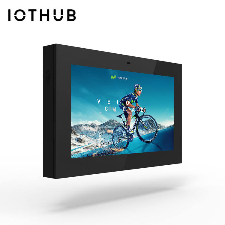 Hushida 32 Inch/43 Inch Hd Commerciële Led Touch Screen Digital Signage Hd Wandmontage Lcd Reclame Speler Outdoor