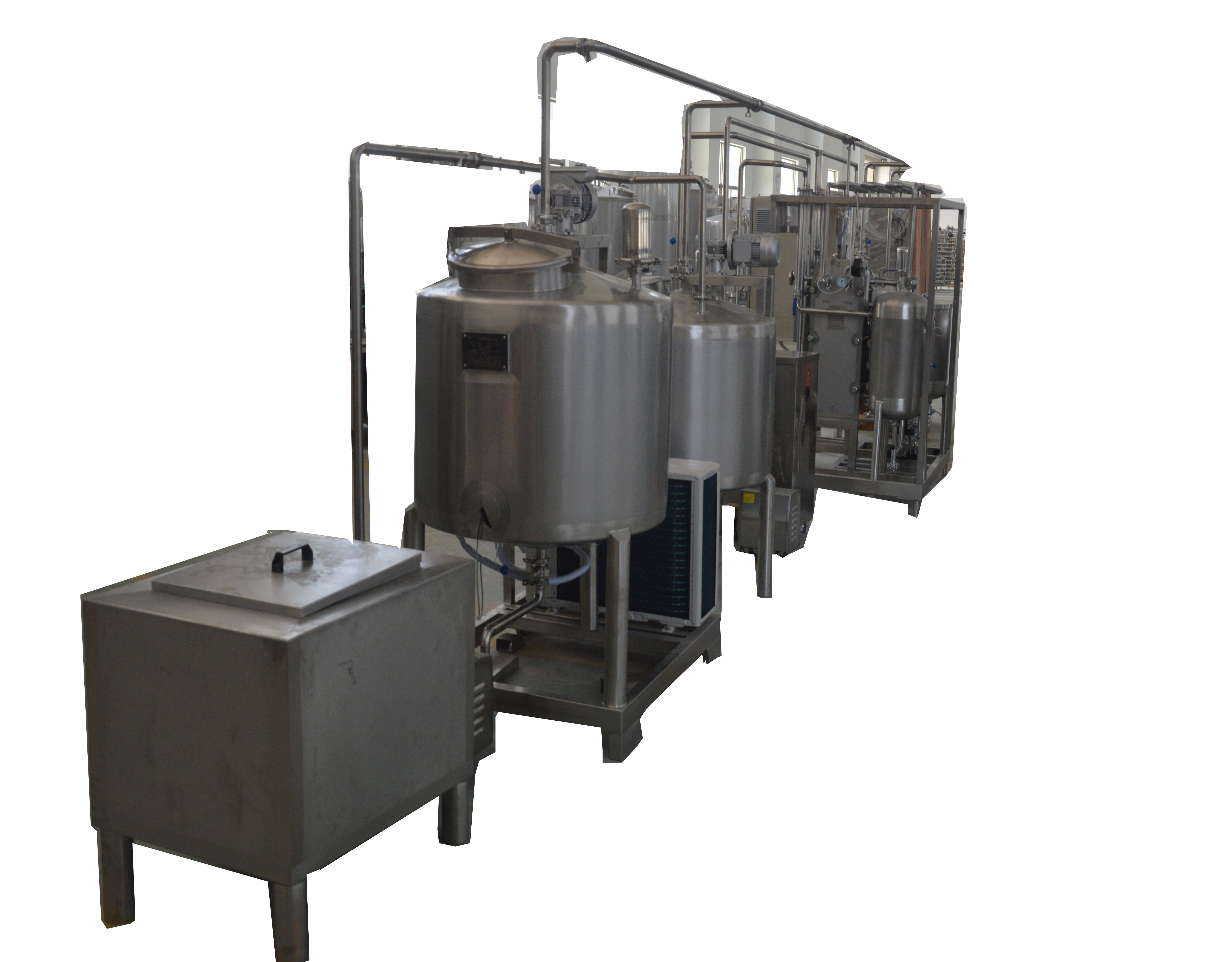 Full Automatic 1000L/H Dairy Industry Use Stirred Yogurt Production Plant