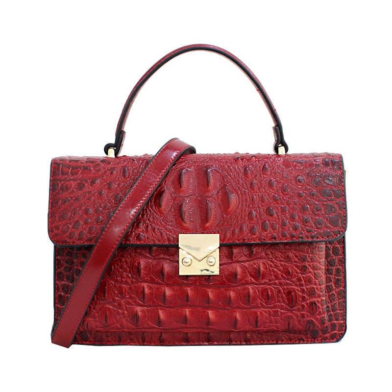 Wholesale fashion custom lady bag China supplier crocodile skin tote bag