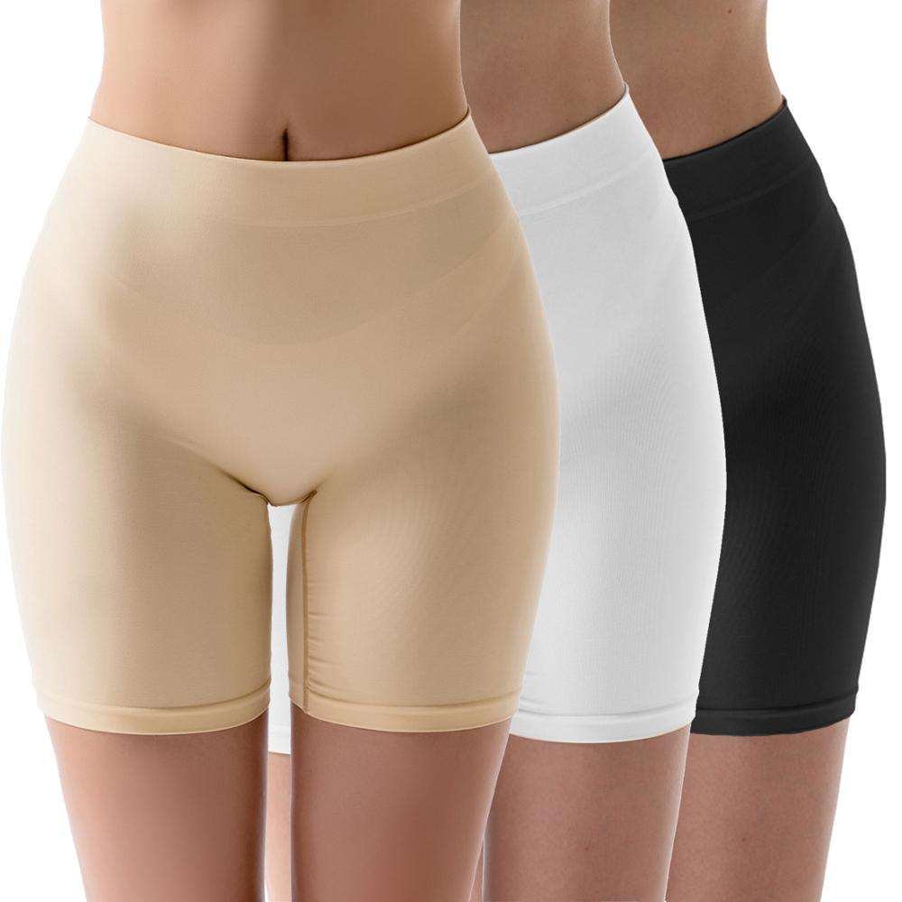 Women Seamless Boyshort Panties Comfortable Tummy Control Slip Shorts for Under Dress