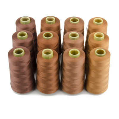 Factory Directly Sale Free Sample 40 2 5000Y Hilo De Poliester Coser 100% Spun Polyester Sewing Thread 5000yards for Hoodies