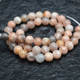 2mm Big Size Hole Natural Sunstone Round Loose Beads 6mm 8mm 10mm 12mm