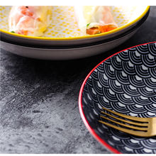 Wholesale Ceramic Dessert Plate Japanese Style 7 Inch Round Porcelain Dinnerware Plates
