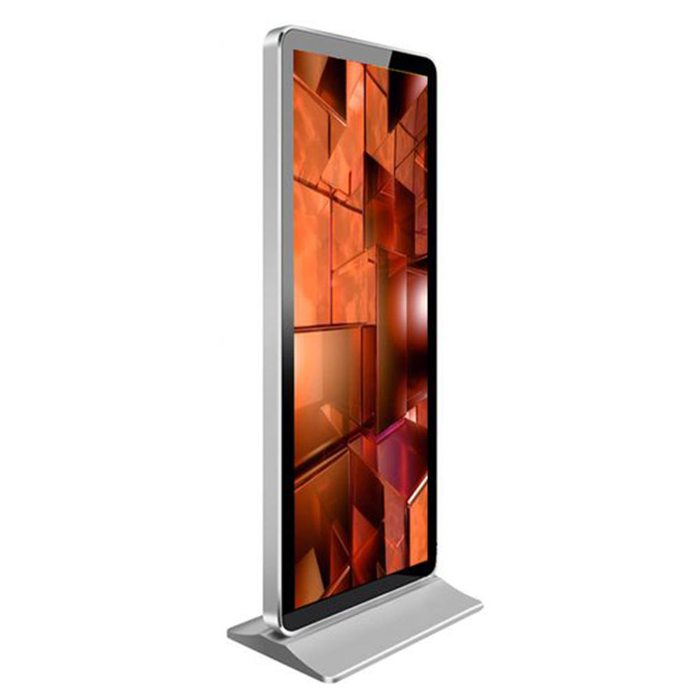 Factory Price Outdoor Ultra Thin Floor Standing Touch Screen Lcd Led Display Advertising Player Totem Ip65 Digital Signage Kiosk