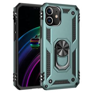 Cheap Price Hybrid Magnetic Car Kickstand Shockproof PC+TPU + Ring Phone Case Protective Cover For iPhone 12