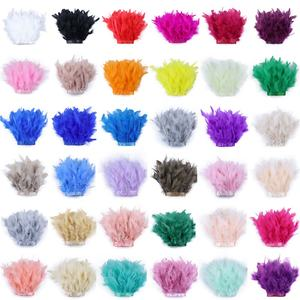 43 Colors Stock Jewelry Crafts Plumes Cat Toy Feathers 10-15cm Fluffy Fabric Turkey Chandelle Marabou Feather Trim for Costumes