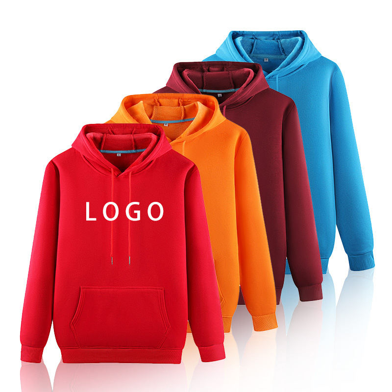 2021 Wholesales Garment Manufacture Casual Style logo embroided hoodie basic unisex blank men's hoodies
