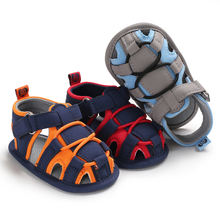 Summer 2019 hot Canvas shoes soft-sole 0-2 years  boy cool toddler sandals baby boy