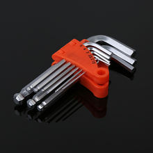 9pc hex short hexagon key set metric allen  wrench tool set for direct supply