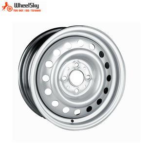 Wheelsky Hot Sale Et1455401 S 14 Inch 14x55 Pcd 4x100 650kg Load Capacity Silver Steel Trailer Wheel Rim